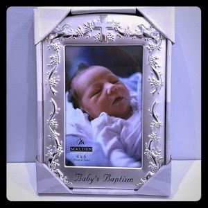 Silver Baby's Baptism picture frame